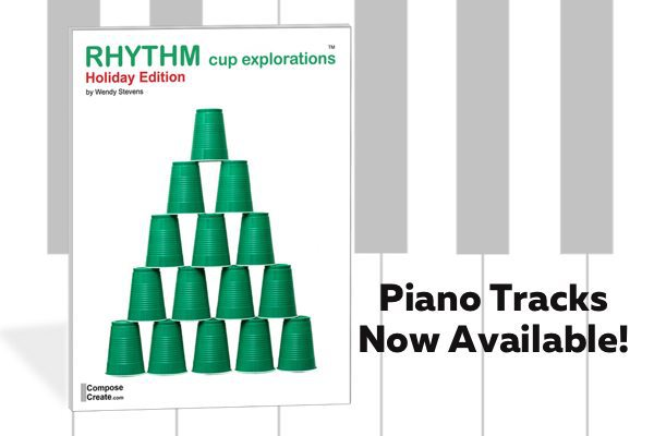 piano tracks for holiday rhythm cups
