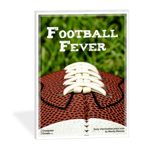 Football Fever sheet music - sports piano music by Wendy Stevens on ComposeCreate.com