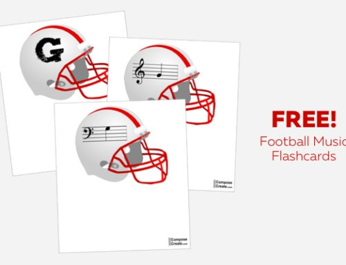 Free American Football Music Flashcards!