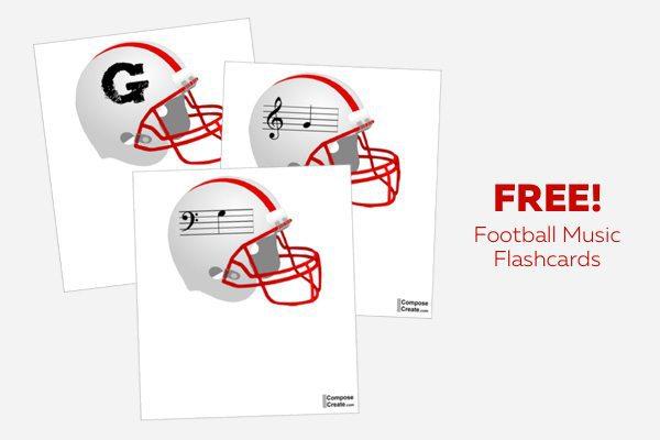 Free football Music Flashcards!