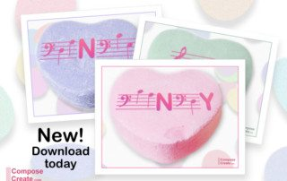 Download these free music valentines for piano teachers and music teachers! | composecreate.com