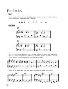 Teach piano improvisation with the Create First improvisation for piano by Forrest Kinney