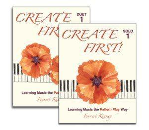 Teach piano improvisation with Forrest Kinney with the new Create First books. Get your free duet book on ComposeCreate.com #improvisation #pianobook #teaching piano #piano