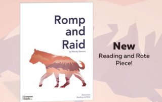 Romp and Raid is a great rote and reading piano piece for elementary piano students