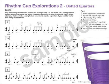 Rhythm Cup Explorations 2 - The second book in the popular rhythm cup tapping curriculum by Wendy Stevens | ComposeCreate.com
