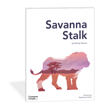 Savannah Stalk - Part of the African Adventure Series. Big sound at the piano, but easy to play | ComposeCreate.com