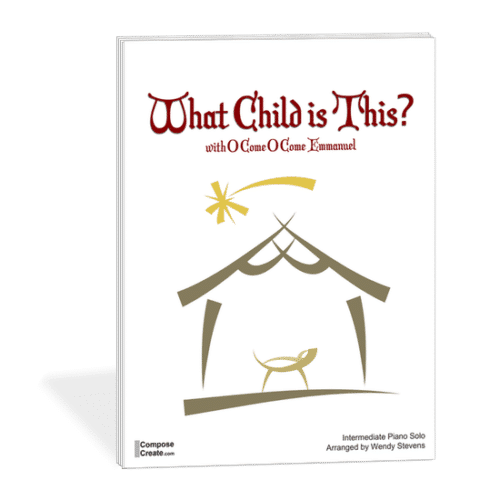 What Child is This with O Come O Come Emmanuel by Wendy Stevens on ComposeCreate.com