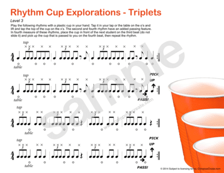 "Rhythm Cup Explorations is taking the music and piano teaching world by storm! Take advantage of ""the cup craze"" and re-enforce the rhythms you are teaching with Rhythm Menagerie and Rhythm Manipulations with Rhythm Cup Explorations. Yes, even though the cups craze (see here and here) may have died down, students are so excited about learning brand new rhythm sequences, fun cup techniques, and special challenges. Rhythm Cup Explorations is reproducible to use with any students you directly teach! It is an energetic book and you must watch the video below and read the reviews to really understand how kids love it and why it's making such a big difference for teachers all over the world!"