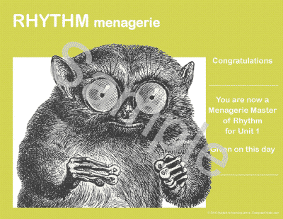 Rhythm Menagerie - an exciting, reproducible rhythm curriculum for classroom and private piano teaching by Wendy Stevens   ComposeCreate.com