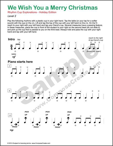 New BIG Sounding Holiday Cup-tapping Accompaniments
