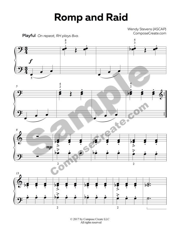 Romp and Raid Sheet Music Reading and Rote Music – Music Reading Worksheets