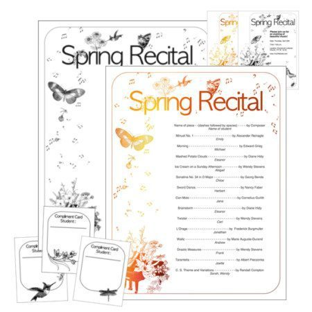 Spring Recital Program Template by Wendy Stevens on ComposeCreate.com