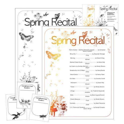 Spring Recital Program Template by Wendy Stevens on ComposeCreate.com