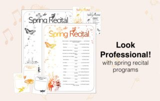 Spring recital template for piano recitals!