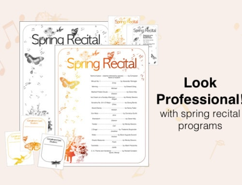 New Spring Recital Template! – Add your own text