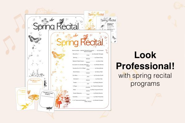New Spring Recital Template - edit a doc, pages, or PDF!