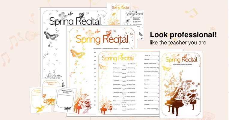 New spring recital template edit a doc pages or pdf yadclub Choice Image