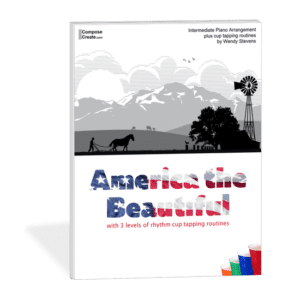 America the Beautiful Cup Tapping Arrangement by Wendy Stevens