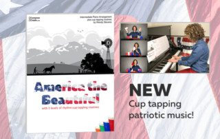 Cup tapping patriotic music