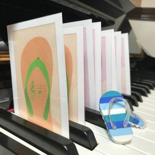 Music flip flop flashcards