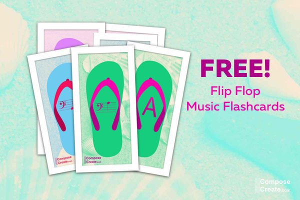music flip flop flashcards