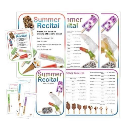 Summer Recital Program Template by Wendy Stevens on ComposeCreate.com