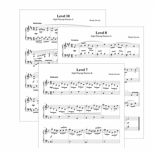 Sight-reading tests for intermediate piano students from ComposeCreate.com