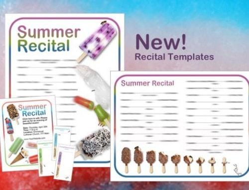 Ice Cream & Popsicle Recital Program! NEW!