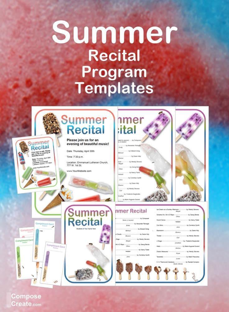 Ice Cream and Popsicle Recital Program Templates - Yum!