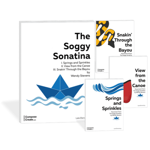 The Soggy Sonatina - an exciting 21st Century Modern Sonatina by Wendy Stevens | ComposeCreate.com