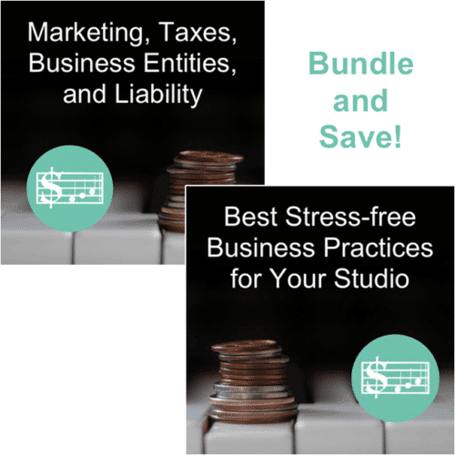 Piano Workshop BUNDLE: Best Stress Free Business + Marketing, Taxes, Business Entities, and LIability