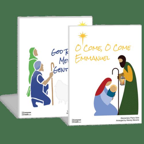 O Come O Come Emmanuel and God Rest Ye Merry Gentlemen bundle on ComposeCreate.com