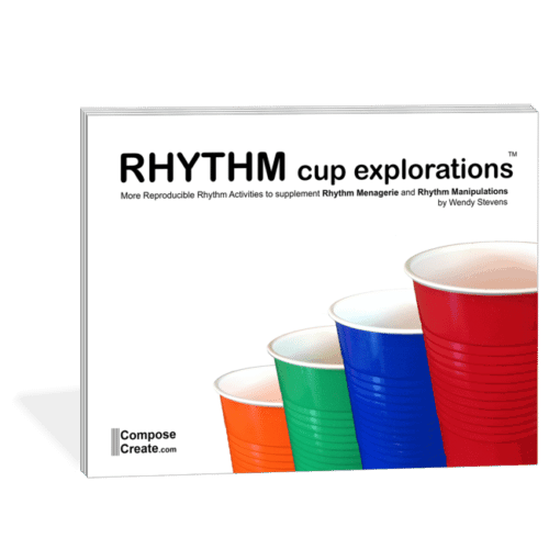 Rhythm Cup Explorations 1 - Use cup tapping to teach rhythm to your music students. Rhythm curriculum by Wendy Stevens | ComposeCreate.com