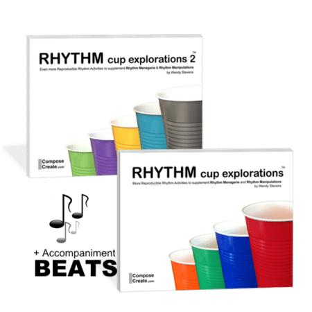 Tappin Tuesday - Rhythm Cup Bundle - Get both Rhythm Cup Explorations books and beats for a discount! No coupon required. | ComposeCreate.com