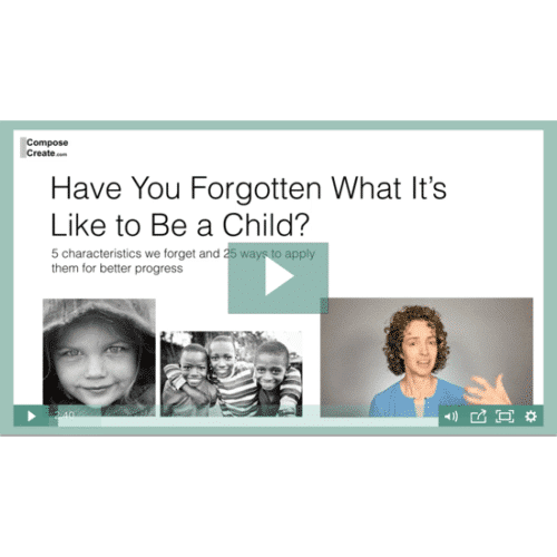 Have You Forgotten What It's Like to be a Child by Wendy Stevens on ComposeCreate.com