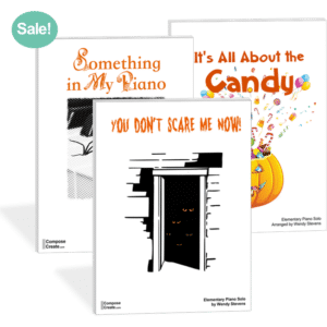 Whatever I'll Be for Halloween plus Fall Piano Teaching Ideas - Get the bundle of easy but big sounding pieces for a sale price!