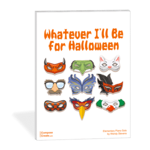 New 2017 Halloween Piano Sheet Music - Whatever I'll Be for Halloween - elementary piano solo that sounds big and more advanced than it really is | composecreate.com