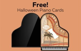 Halloween Piano Cards - Give to students or advertise studio! Only available at ComposeCreate.com
