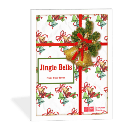 Holiday Rote Piano Pieces - Jingle Bells | ComposeCreate.com #piano #holiday #easy #christmas #pianopedagogy #pianoteaching