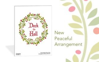 Peaceful Deck the Hall arrangement for piano by Wendy Stevens | Get it instantly on ComposeCreate.com