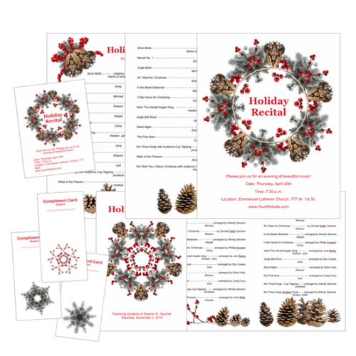 Holiday Recital Template Package - available only at ComposeCreate.com