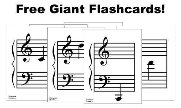 It is a graphic of Free Printable Music Flashcards pertaining to music symbol