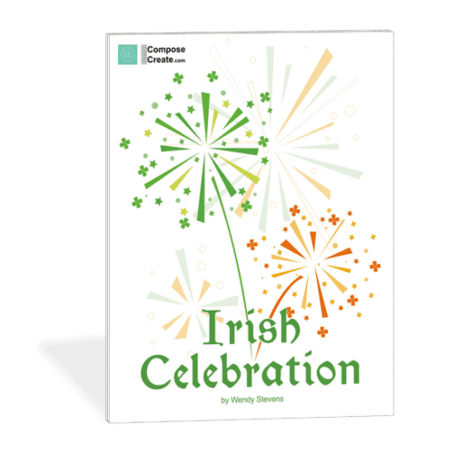 New Easy Irish Piano Music - Irish Celebration by Wendy Stevens comes with teacher duet | ComposeCreate.com