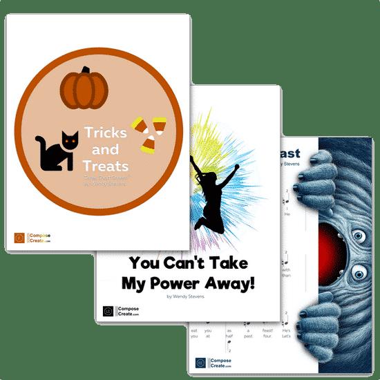 Wendys Halloween 2020 Wendy Stevens Fall & Halloweeen Piano Music Bundle